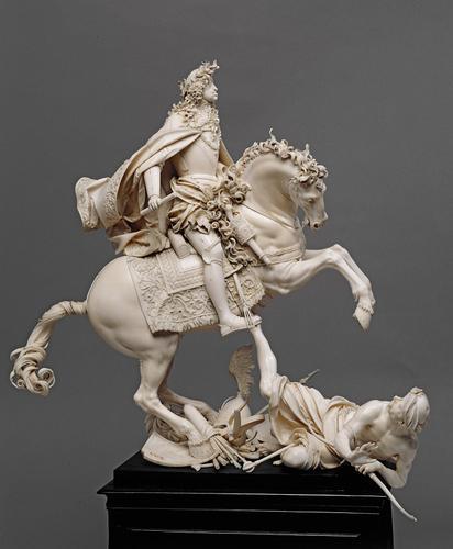 Equestrian statuette of Emperor Leopold I, 1690-3, Matthias Steinl, Austria