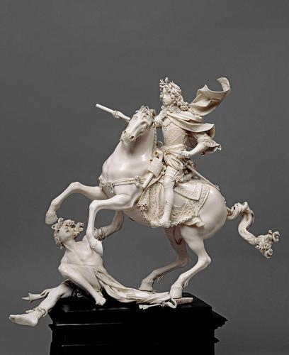 Equestrian statuette of King Josephs I, 1693, Matthias Steinl, Austria