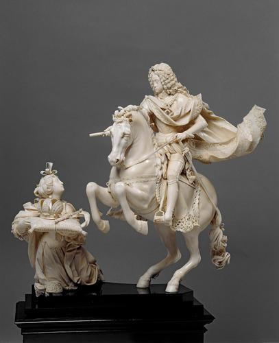 Equestrian statuette of Emperor Karls VI, 1711-2, Matthias Steinl, Austria
