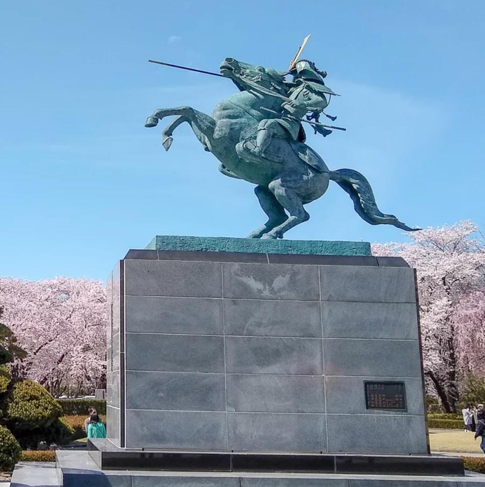 Mogami Yoshiaki statue, Yamagata Castle, ?, Yamagata city, Yamagata prefecture, Japan