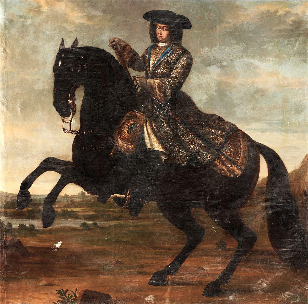 Karl XI on horseback, 1696, Studio of David von Krafft