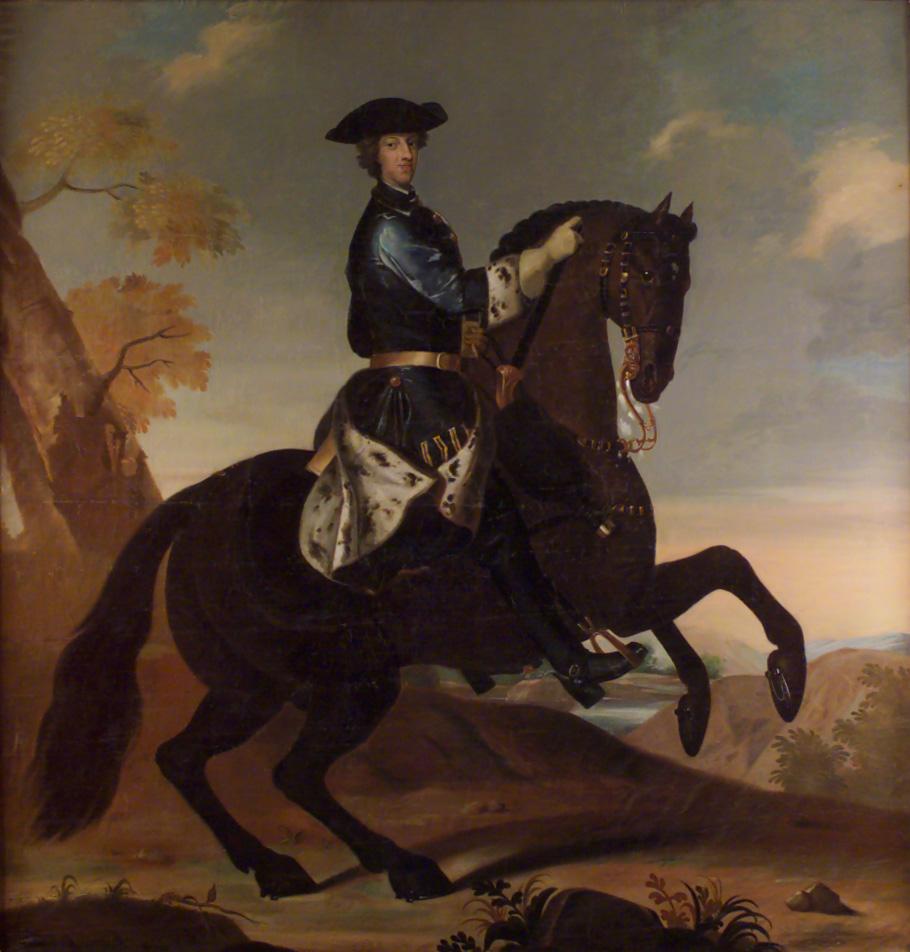 Karl XII on horseback,1697-1718, David von Krafft (?)