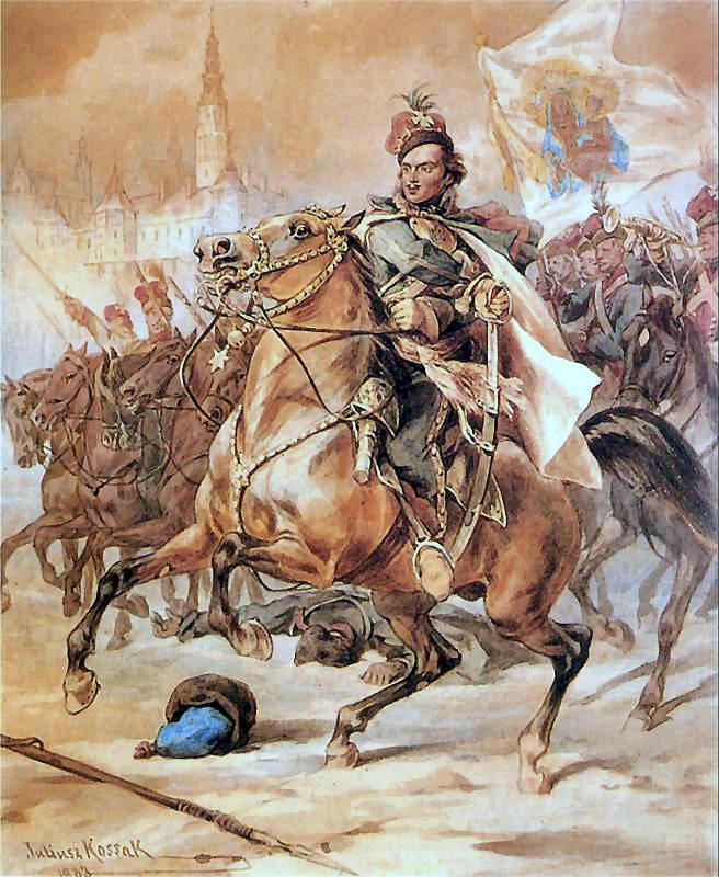 Casimir Pulaski in defense of Czestochowa, 1883, Juliusz Kossak, Kraków, Poland
