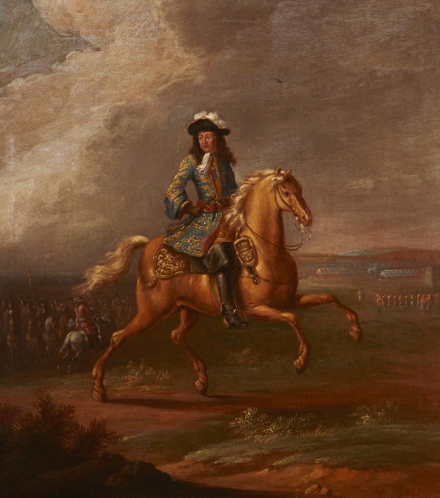 King William III on his favourite horse Sorrel , second half of the 17th century (?), manner of Jan Wyck, England (?)