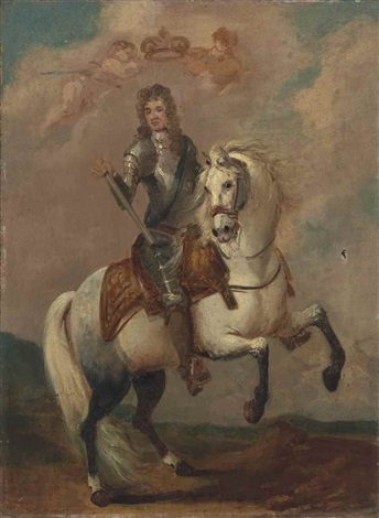 Equestrian portrait of William III, second half of the 17th century, circle of Godfrey Kneller, England