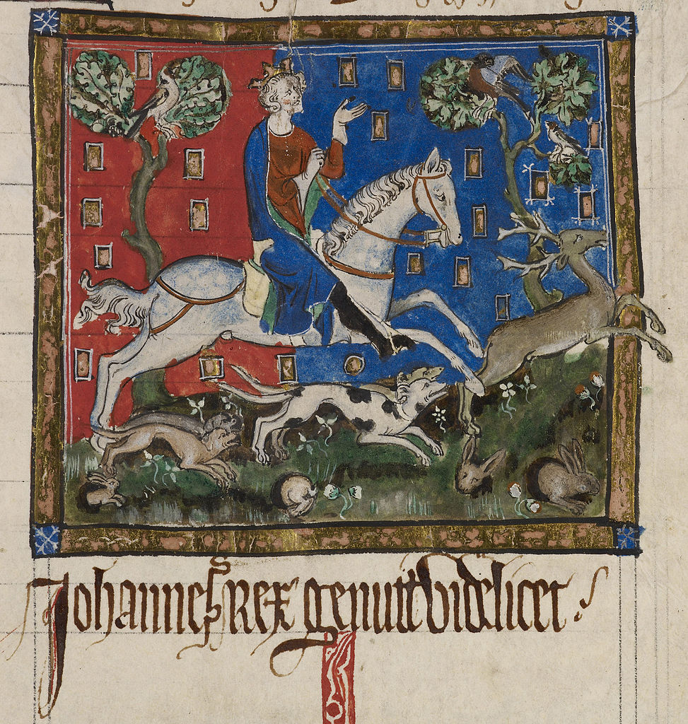 King John hunting, 14th century, England