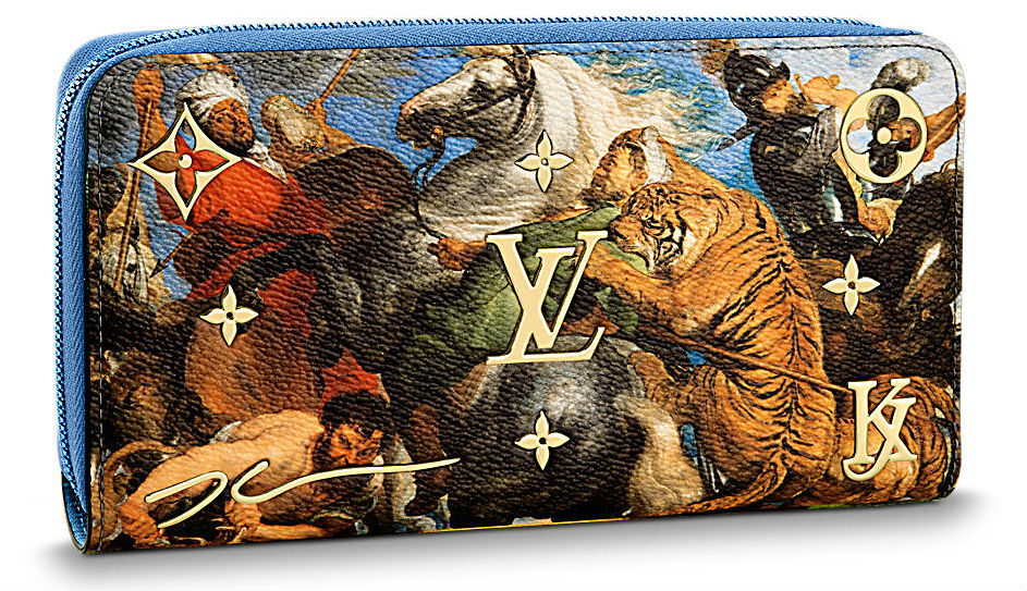 Zippy wallet with the reproduction of 'Tiger Hunt', 2017, $1770, LOUIS VUITTON