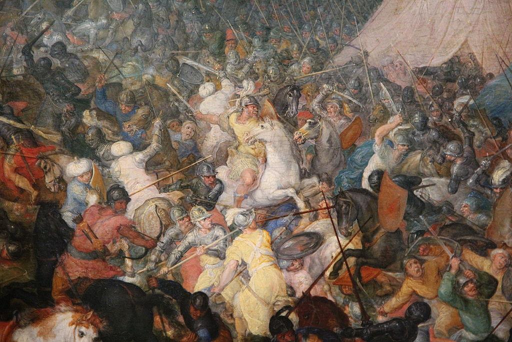 The Battle of Issus or Arbela (zoom on Alexander the Great), 1602, Jan Brueghel the Elder, Flemish school