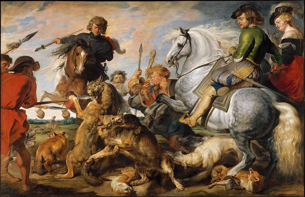 Wolf and Fox Hunt, cr. 1616, Peter Paul Rubens