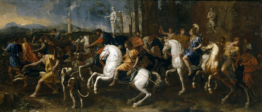 The hunt of Meleager and Atalante, cr. 1634-9, French, painted in Rome