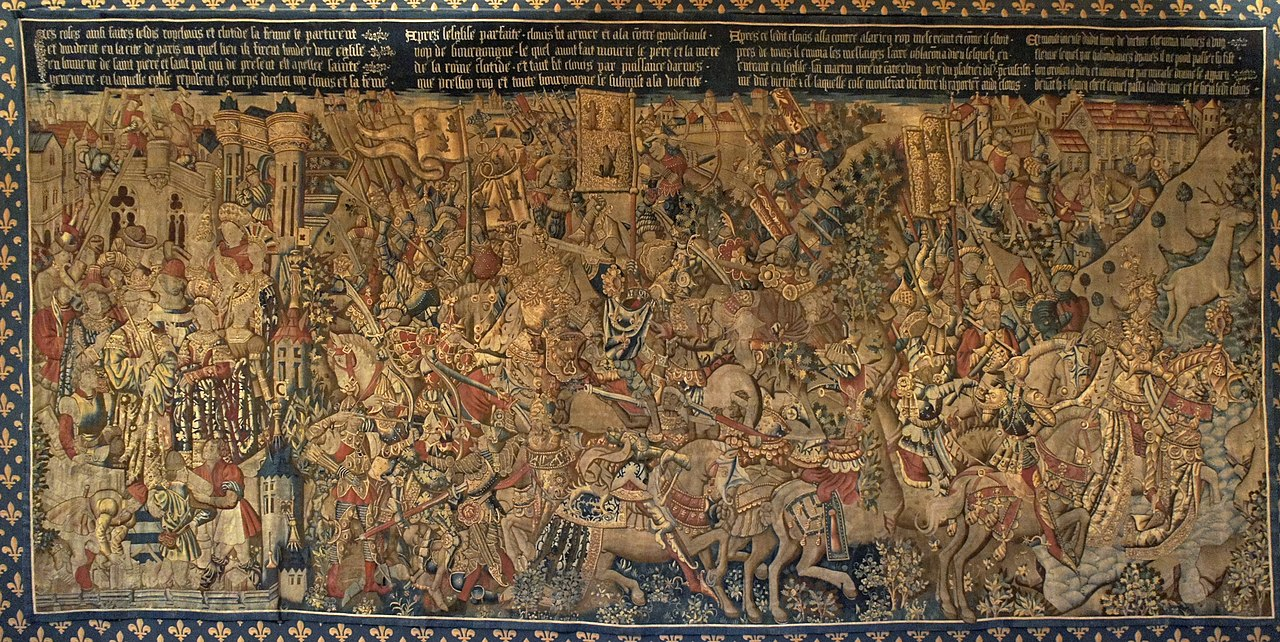 The War with Gondebaud (tapestry series 'The History of Clovis'), 15th century, Arras, France