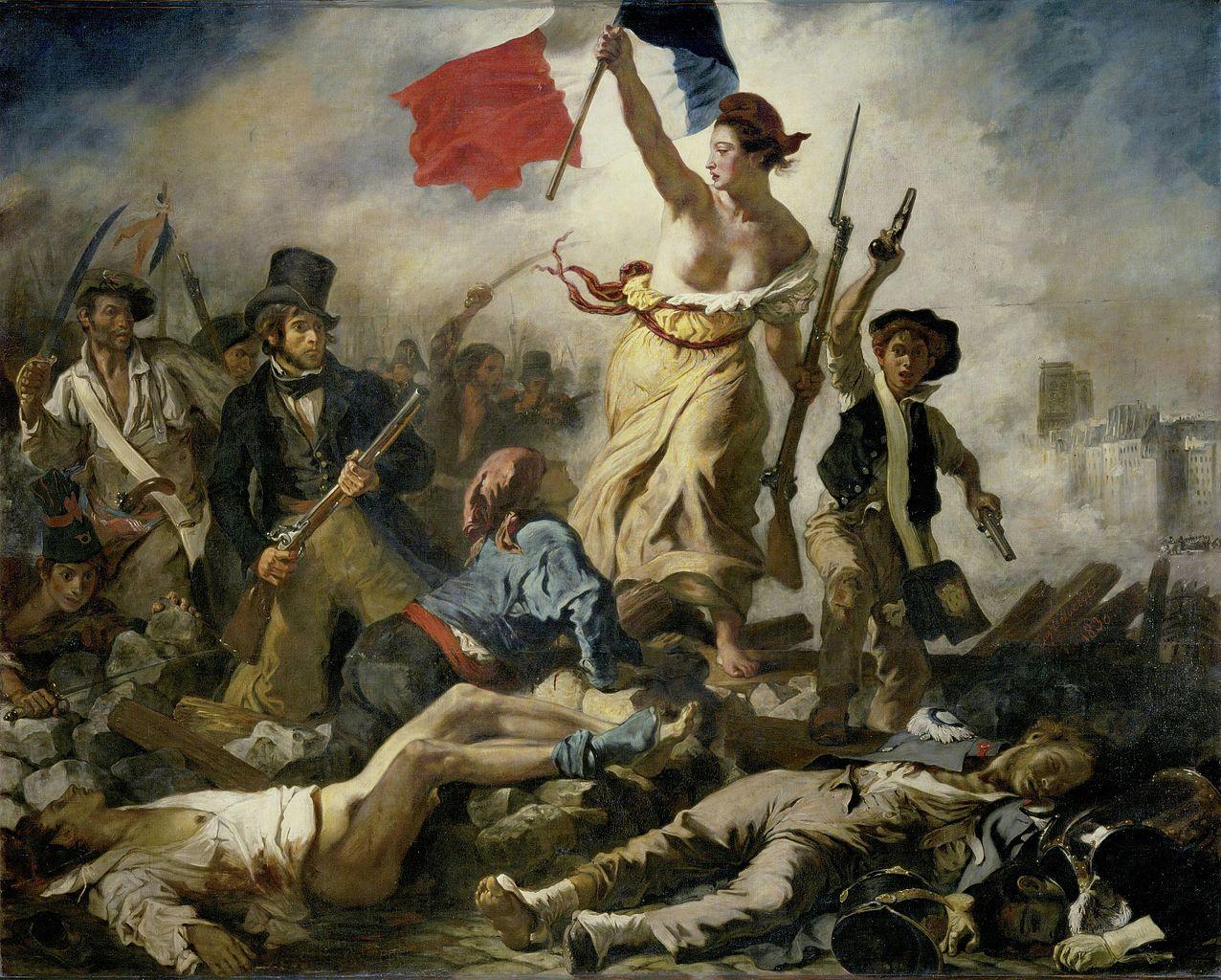 Liberty Leading the People, 1830, Delacroix Eugène, France