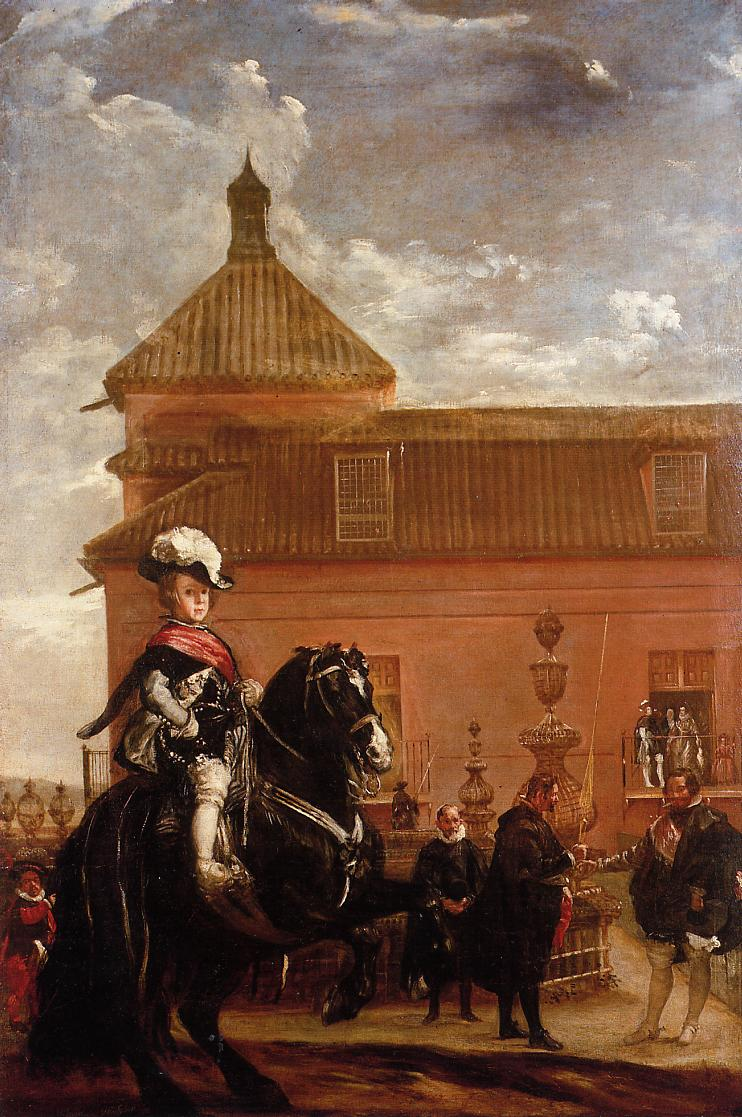 Prince Baltasar Carlos with the Count-Duke of Olivares outside the Buen Retiro palace, 1636, Diego Velázquez