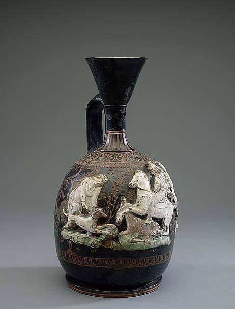 Relief Lekythos with Hunting Scene, early 4th century BC, ?