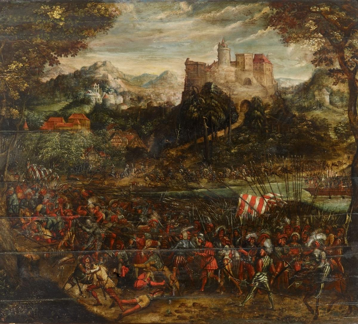 Battle scene with landsquenets, cr. 1525-30, South Germany