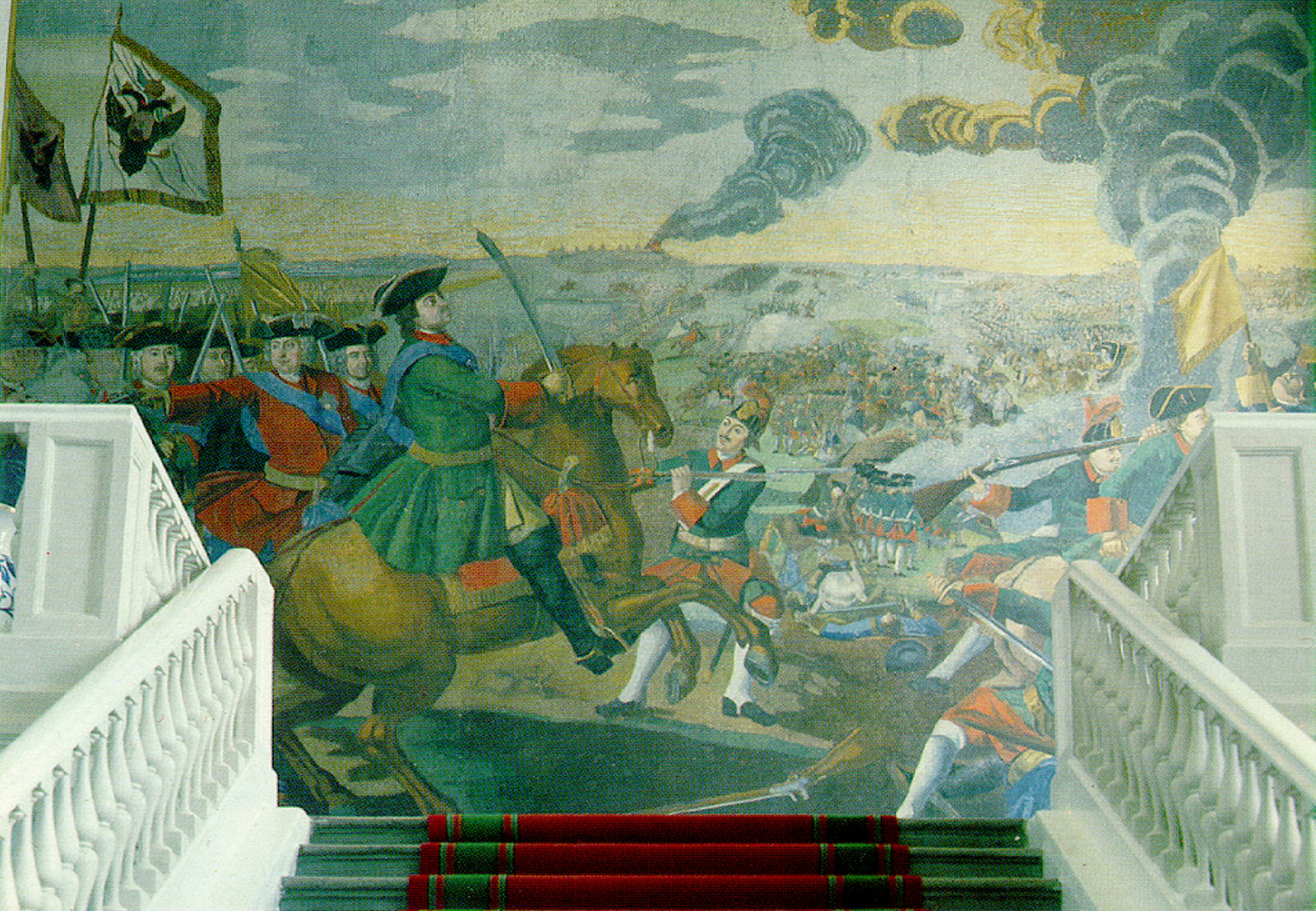 Battle of Poltava (mosaic), Mikhail Lomonosov, 1762–1764