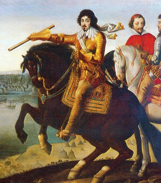 Louis XIII and Cardinal Richelieu in front of La Rochelle,17th century, Unknown