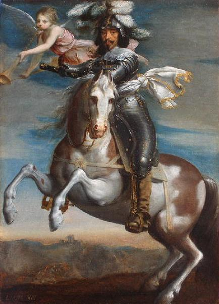 Louis XIII on horseback,circa 1630, Justus van Egmont
