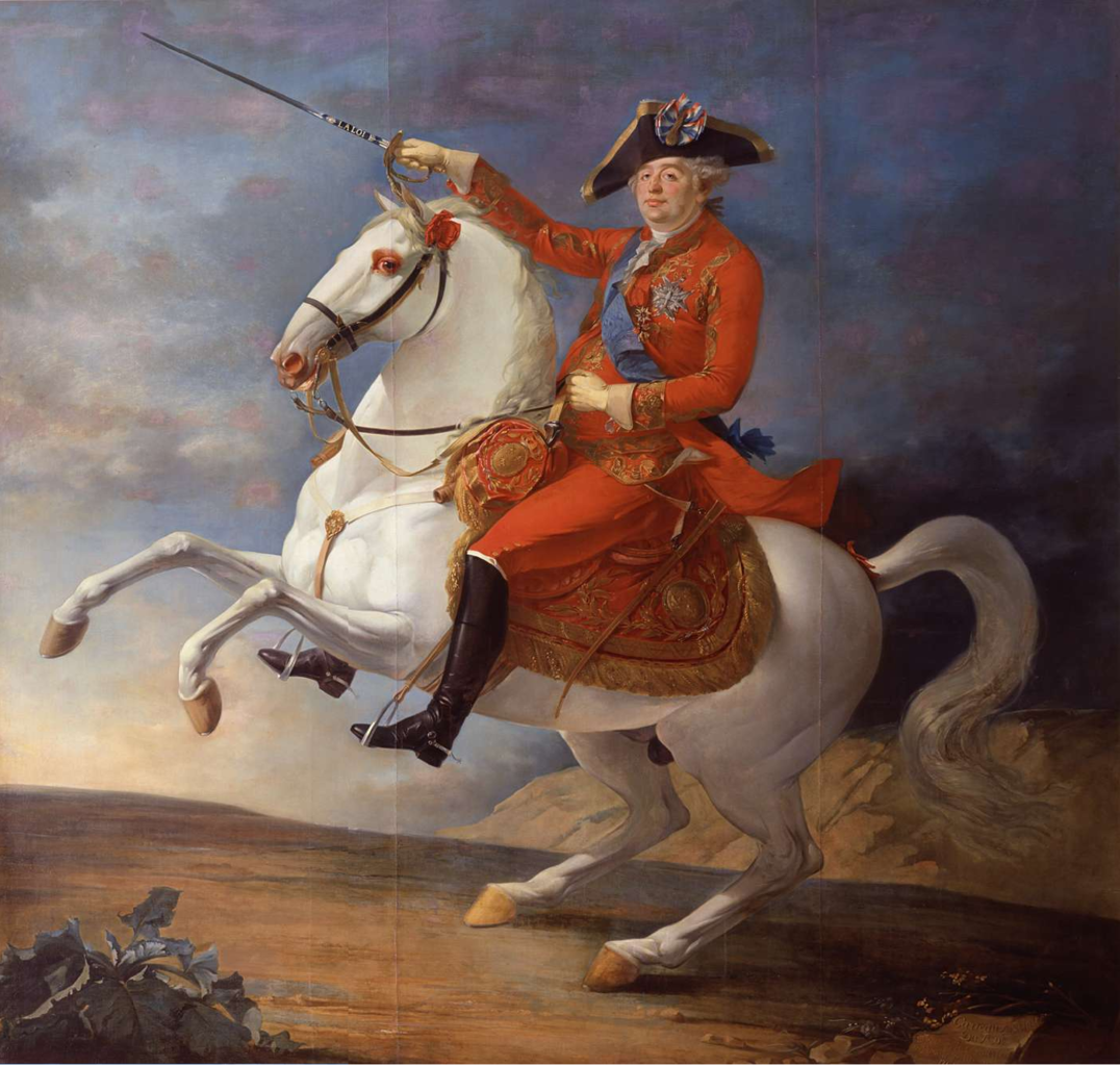 Louis XVI as a citizen-king, sporting the tricolour cockade on his hat, 1791, Jean Baptiste François Carteaux