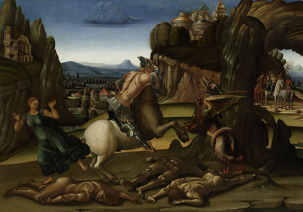 Saint George And the Dragon, 1495-1505, Workshop of Luca Signorelli, Tuscany, Italy