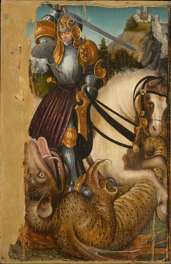 Saint George Fighting the Dragon, cr. 1510-20, workshop of Lucas Cranach the Elder, Germany