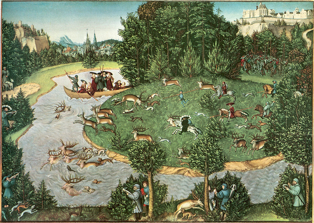 The Stag-Hunt, 1529, Lucas Cranach the Elder, Germany