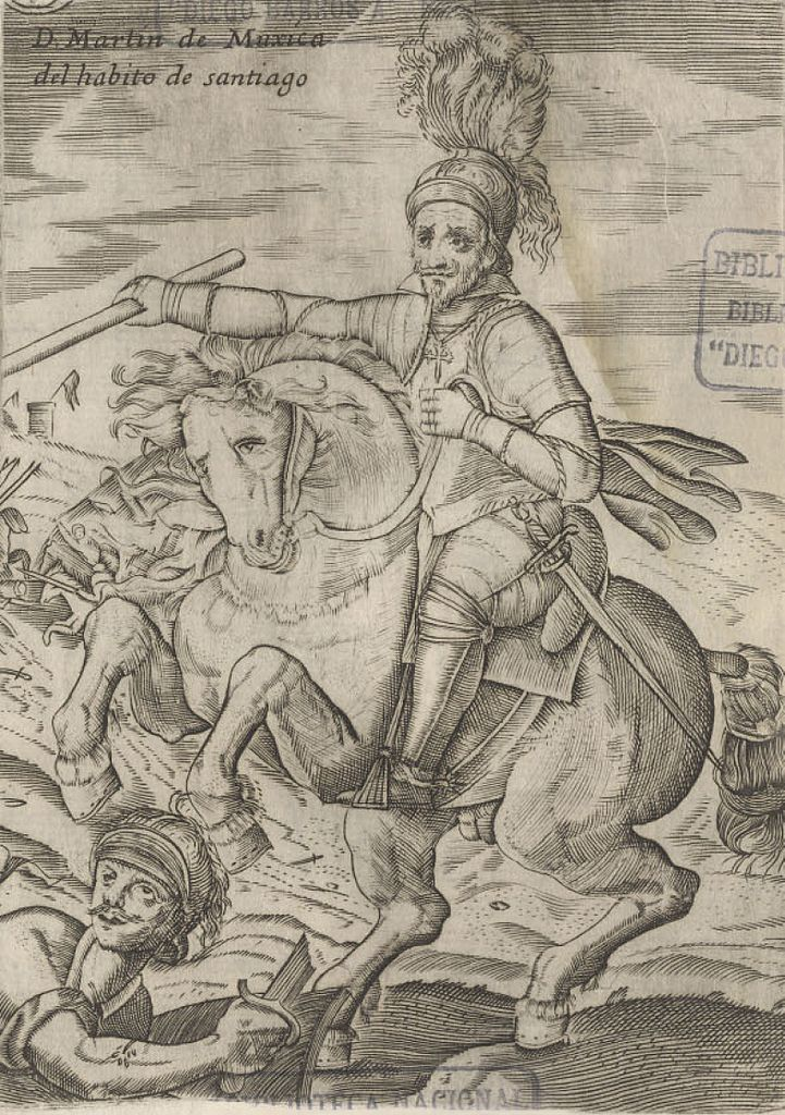 Martín de Mujica, Chile's spaniard governator, represented as Santiago, (1646-1649), 1646, Alonso de Ovalle, Chile