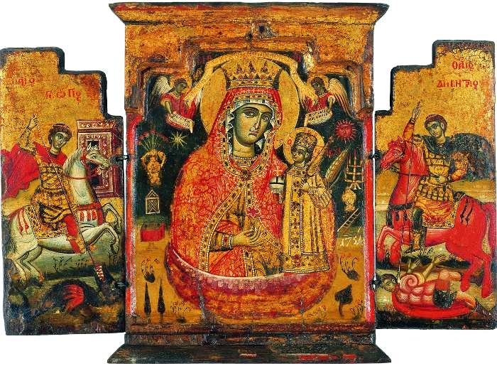 Mary with Saint George and Saint Demetrius, 1754, Greece