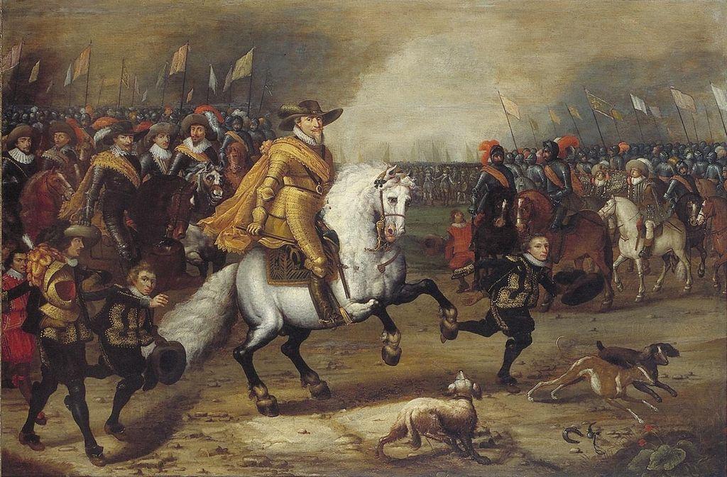 Prince Maurice of Orange during the Battle of Nieuwpoort (1600), cr. 1620-60, Henri Ambrosius Pacx, Dutch