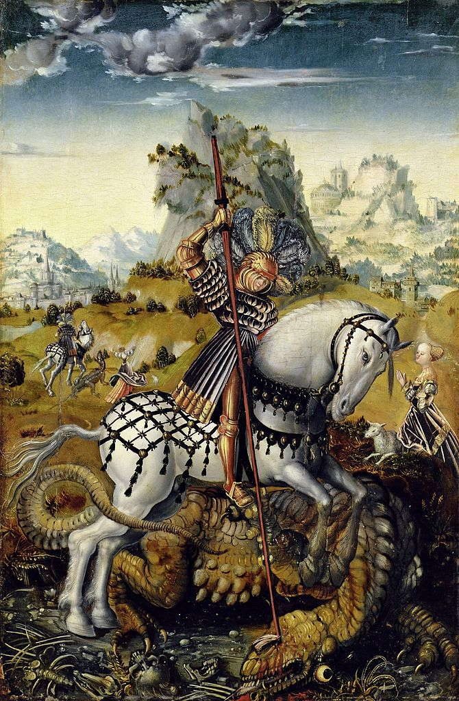 Saint George and the dragon, cr. 1511-13, circle of Lucas Cranach the Elder, Germany