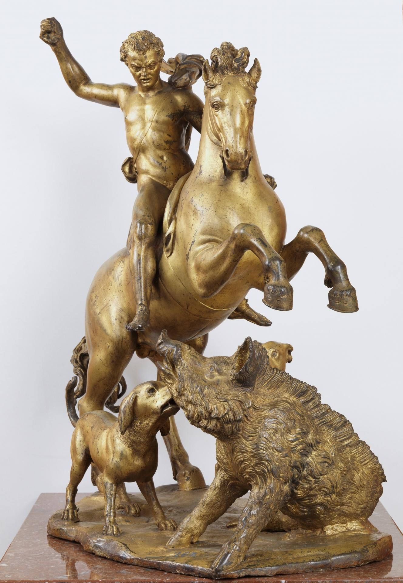 Meleagrus' Hunt statuette, 1583-4, Giovanni di Benedetto Bandini, Florence/Urbino, Italy