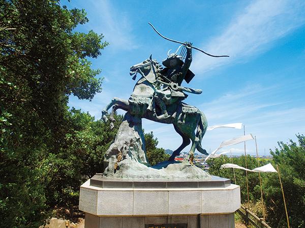 Monument to Minamoto no Yoshitsune, 1991 (?), Komatsushima city, Tokushima prefecture, Japan