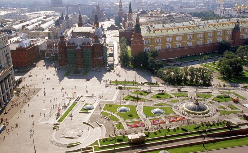 Manege Square (Манежная площадь), Moscow, Russia