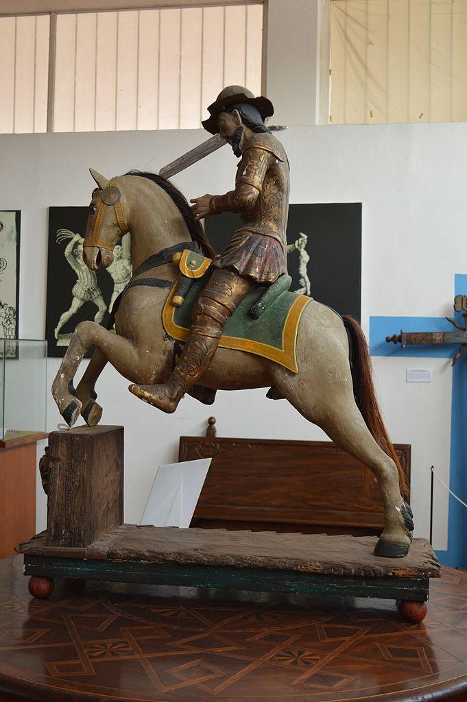 Sculpture of Saint James, colonial era, Mexico