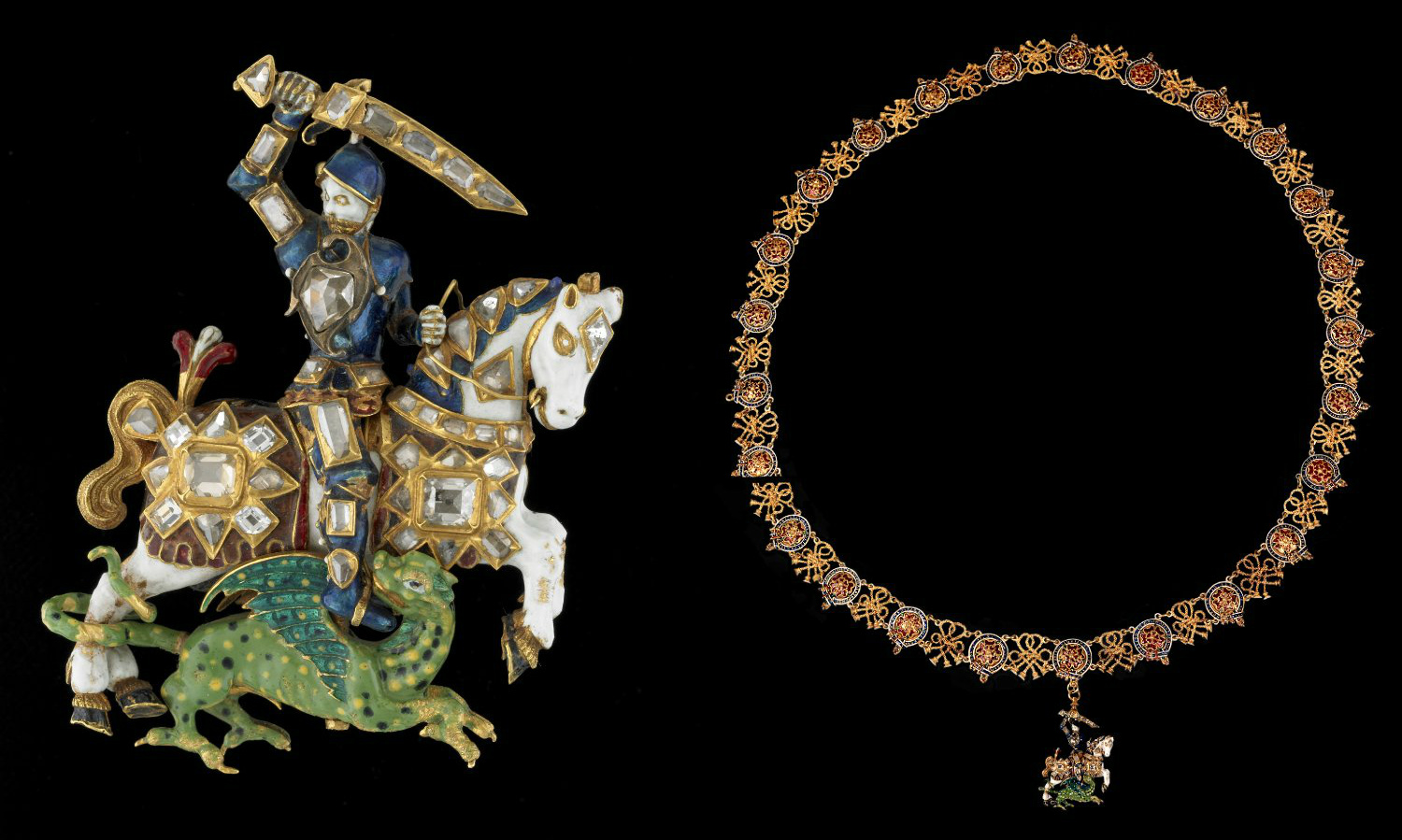 An Order of the Garter collar with Great George, 1628-9, England