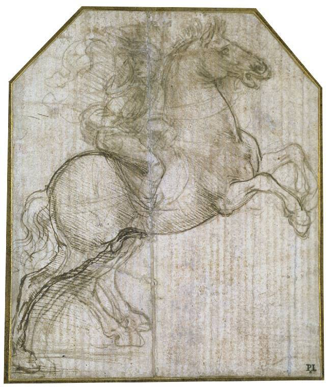 A rider on a rearing horse,1481-2, Leonardo da Vinci
