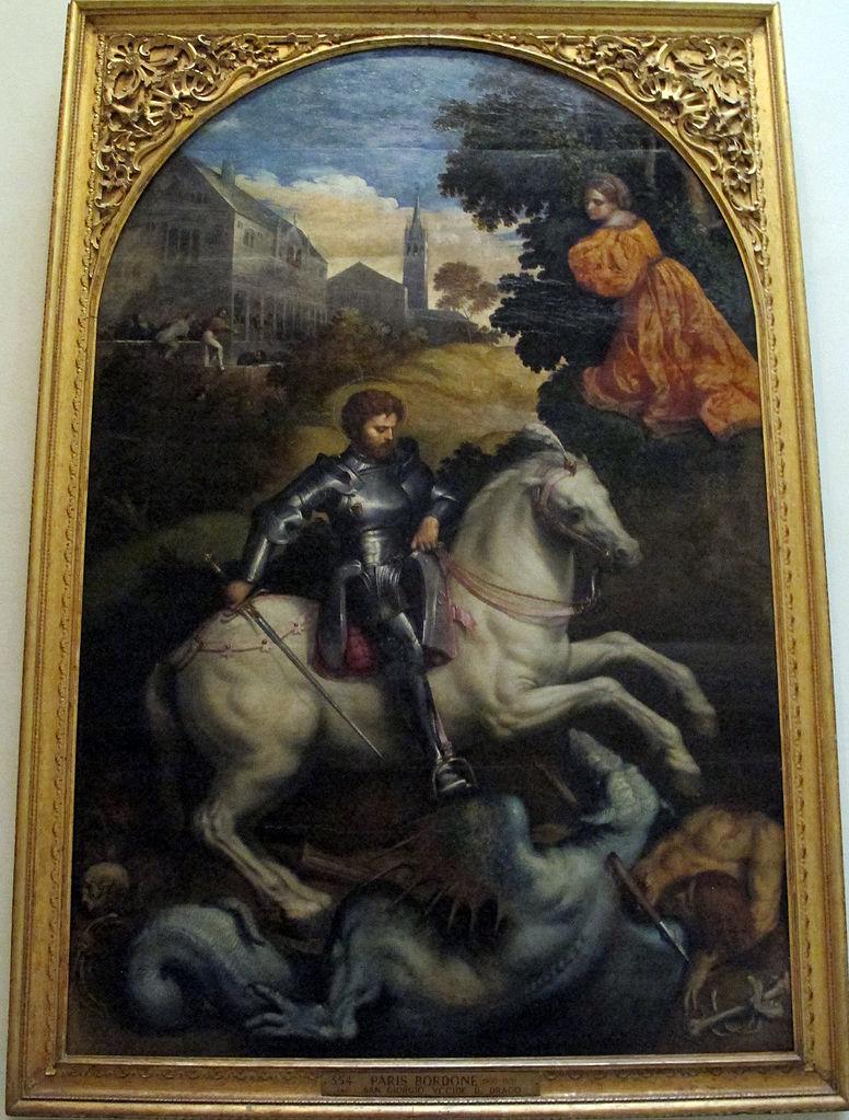 St. George Killing the Dragon, 1525, Paris Bordone, Italy