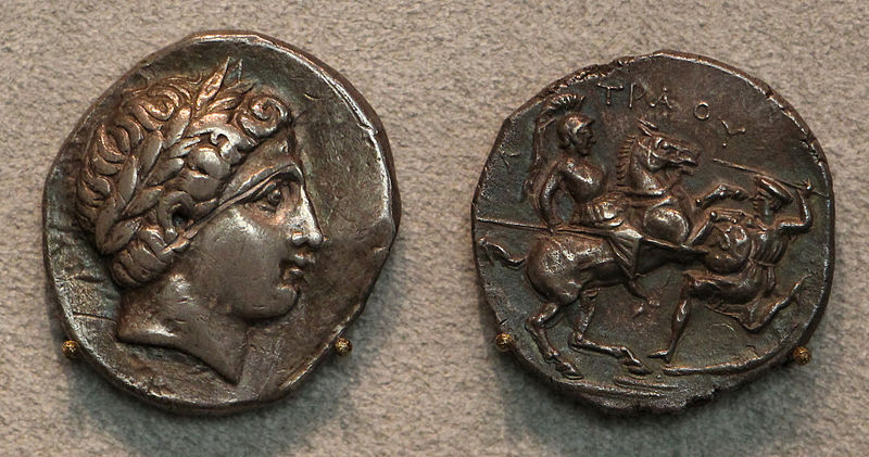 Tetradrachm of King Paionia, 335–315 BC, Paeonia