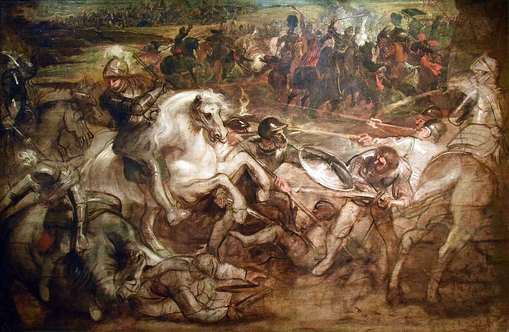 Henri IV at the battle of Ivry, 1624-6, Peter Paul Rubens and Peter Snayers, Flemish