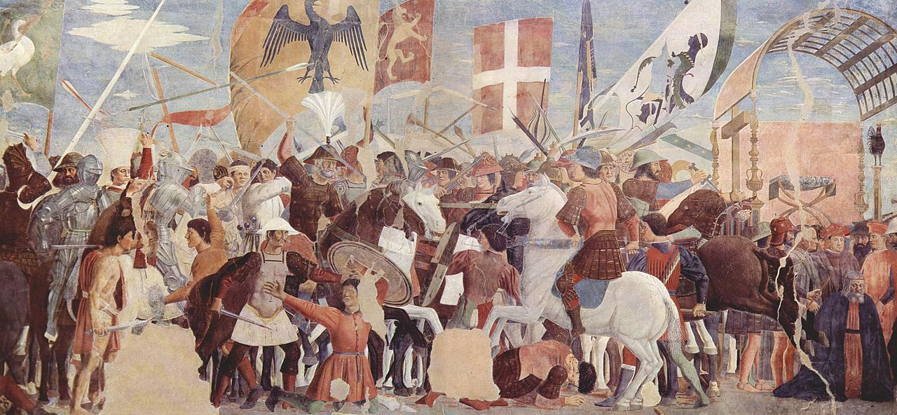 The Battle of Nineveh (between Khosrau II and Heraclius, in 627), cr. 1452-66, Piero della Francesca, Arezzo, Italy
