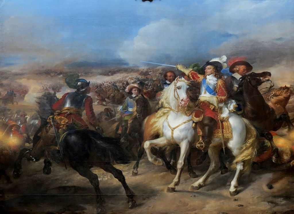 Battle of Lens (1648), cr. 1835, Pierre Franque, Galerie des Batailles, Versailles, France
