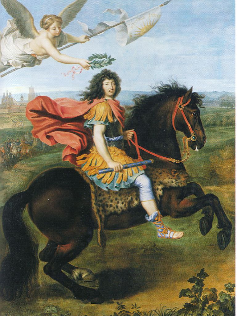Louis XIV on horseback, 1673, Pierre Mignard