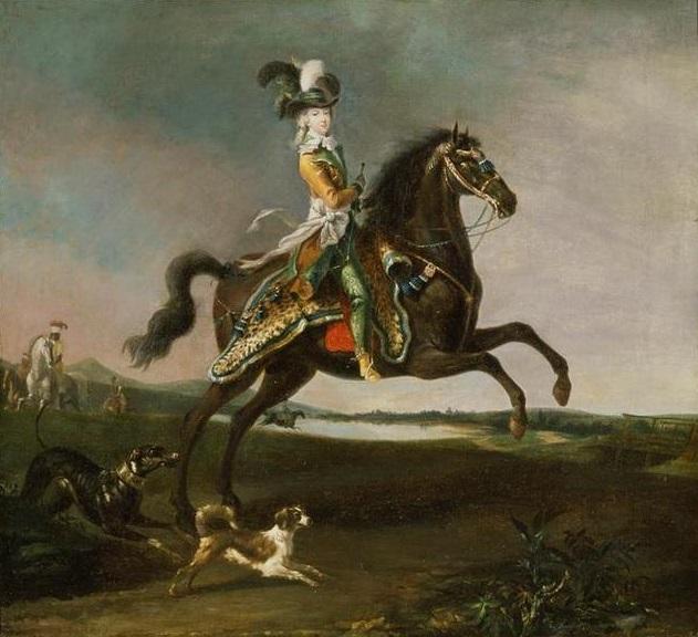 Equestrian portrait of the queen Marie-Antoinette, 1783, Louis-Auguste Brun