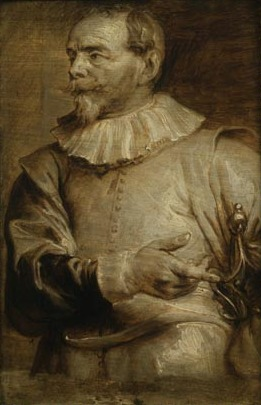 Portrait of Sebastiaan Vrancx, 1615-41, Anthony van Dyck, Flemish