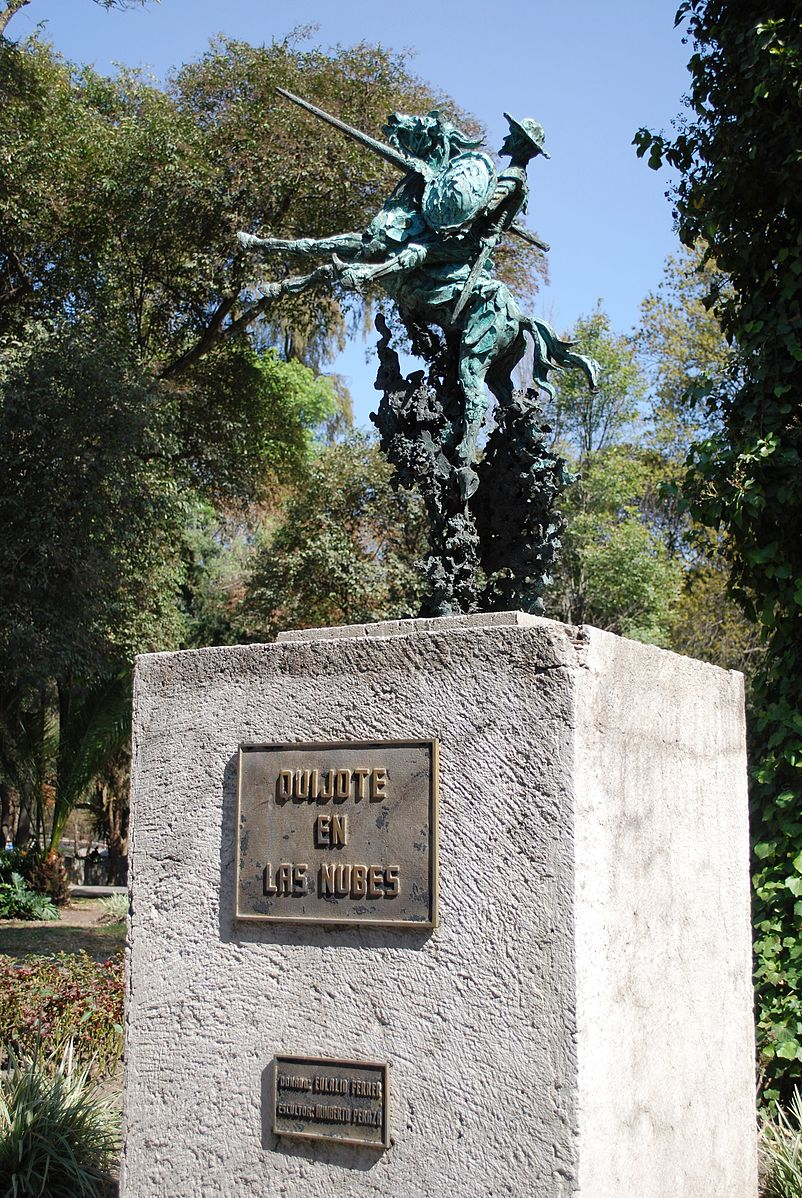 Don Quixote in the Clouds, 1989, Chapultepec Park, Mexico City, Mexico