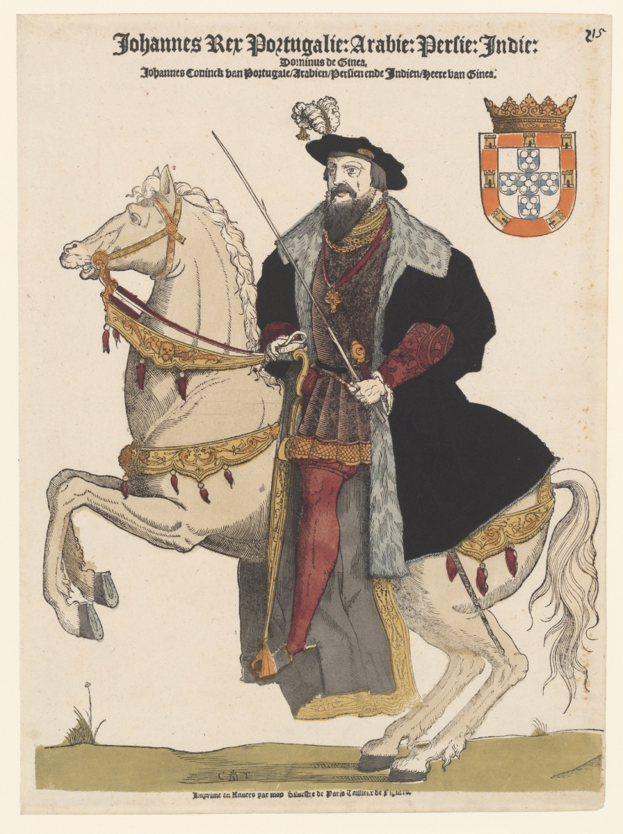 John II, king of Portugal, on Horseback, 1540-44, Cornelis Anthonisz (manner of) and Sylvester van Parijs, Antwerp, Netherlands