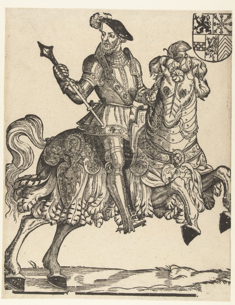 Willem van Gulik, duke of Gelre, on Horseback, 1538-42, Cornelis Anthonisz., Antwerp, Netherlands