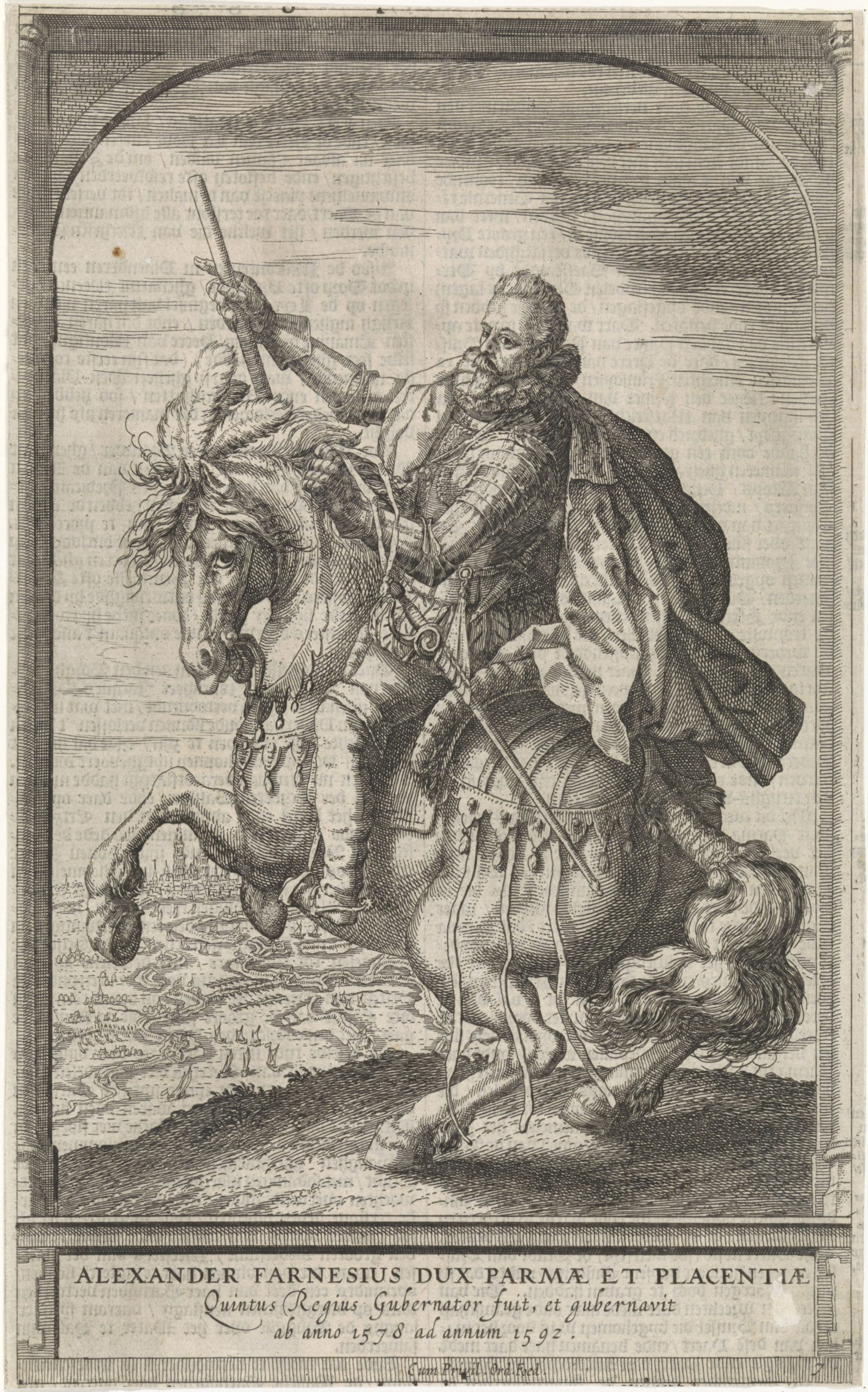 Alessandro Farnese, Duke of Parma, 1591 - 1632, Hessel Gerritsz, Amsterdam, Netherlands