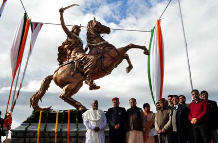 Statue of Rani of Jhansi, 2010, Fakir Chandra Parida, Shimla, India