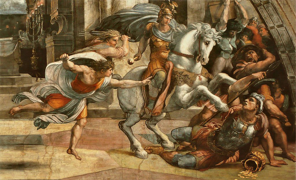 Expulsion of Heliodorus from the temple (detail), 1511, fresco, Raphael, Vatican, Italy